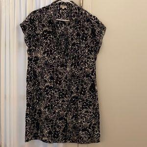WHIT silk black and white shirt dress/tunic S
